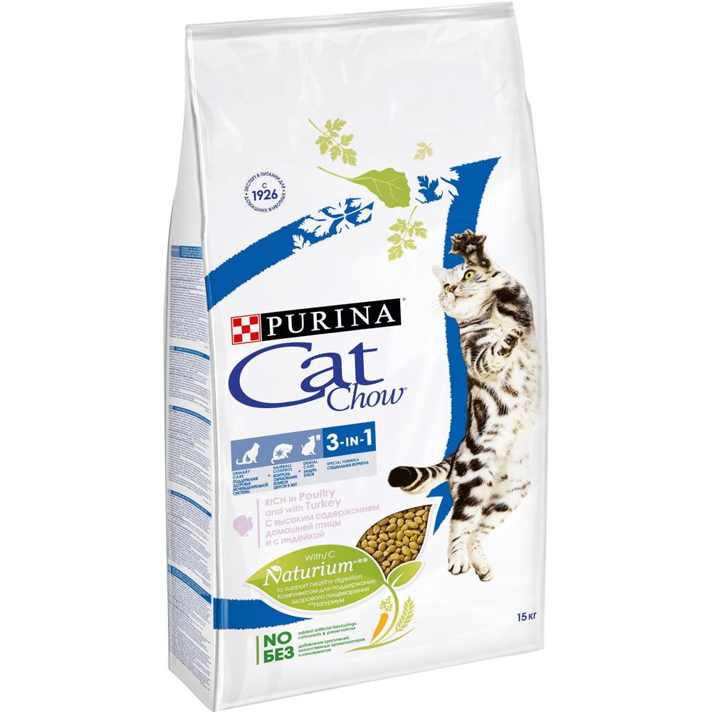 Cat Chow Feline 3в1, 15кг