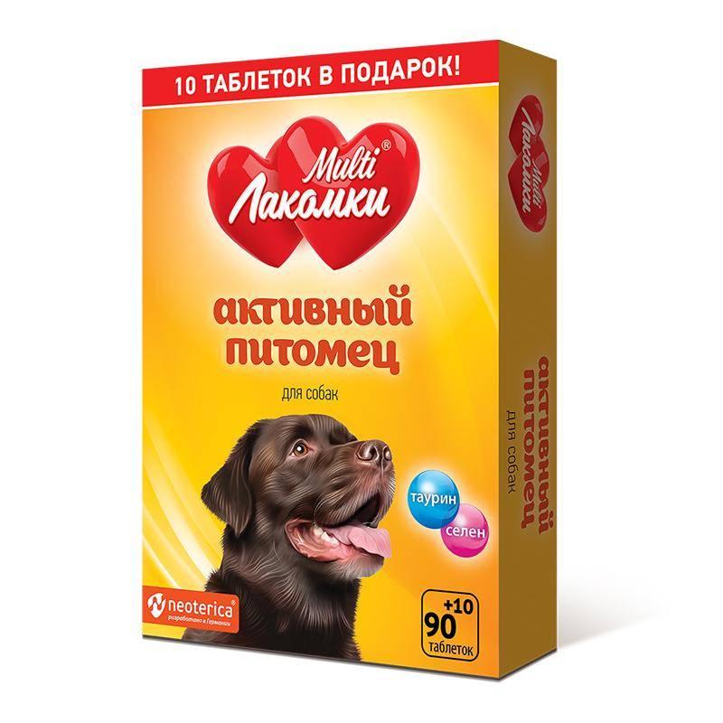 МультиЛакомки Активный питомец д/собак 100 таб.