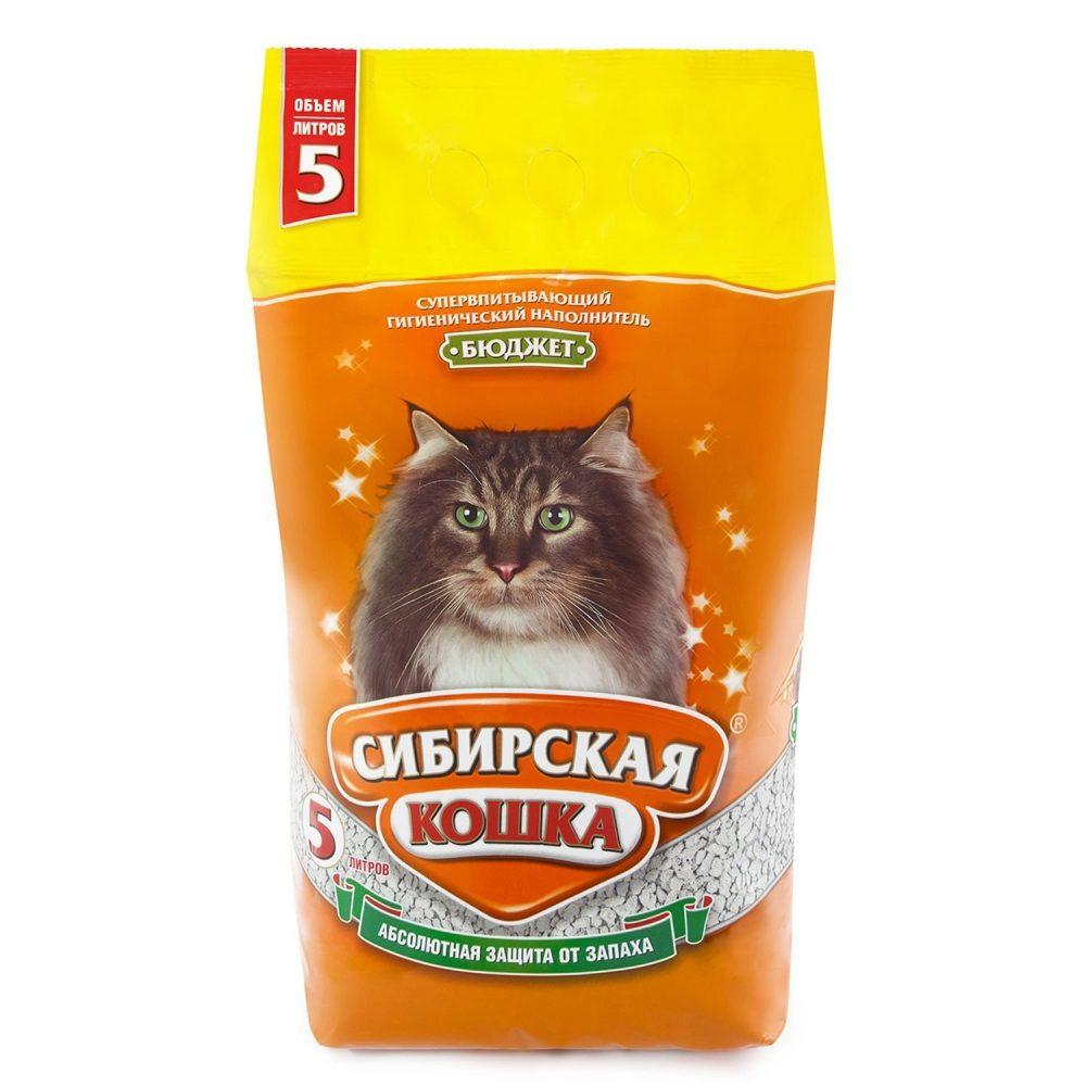 Наполнитель Сибирская Кошка Бюджет 7л
