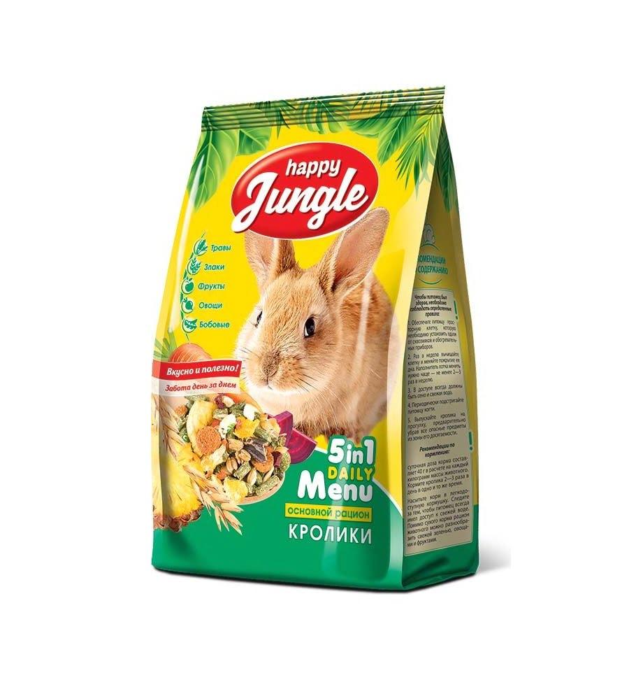 Корм HAPPY JUNGLE для кроликов 400г J110
