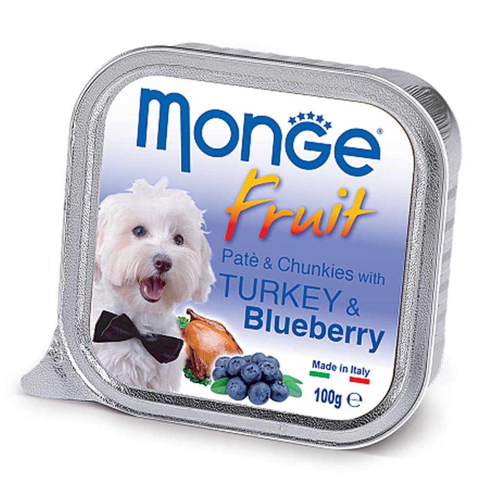 Monge Fruit Dog паштет с индейкой и черникой, 100г/1320