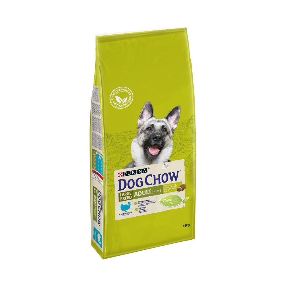 Dog Chow Adult Large с индейкой, 14кг